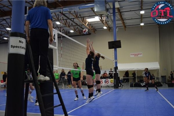 Footwork For Blocking In Volleyball By A Middle Blocker